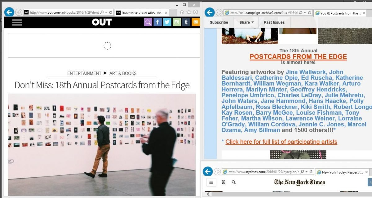 2016 postcards from the edge (web clippings)
