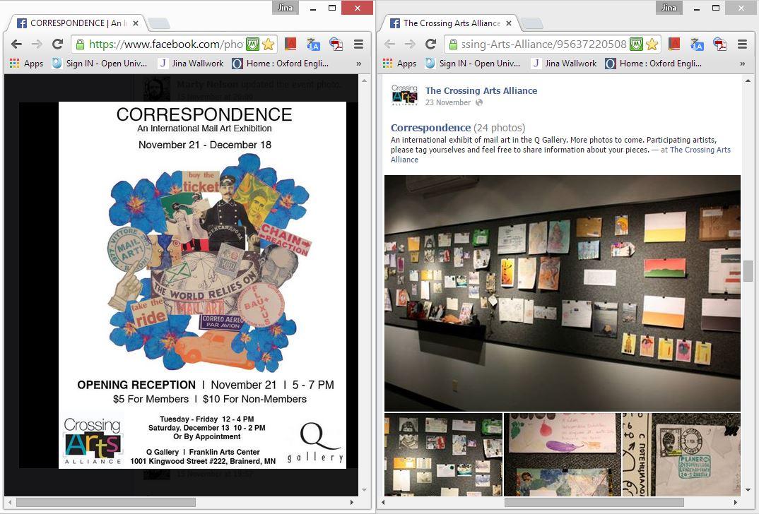 correspondence exhibition (web clippings)