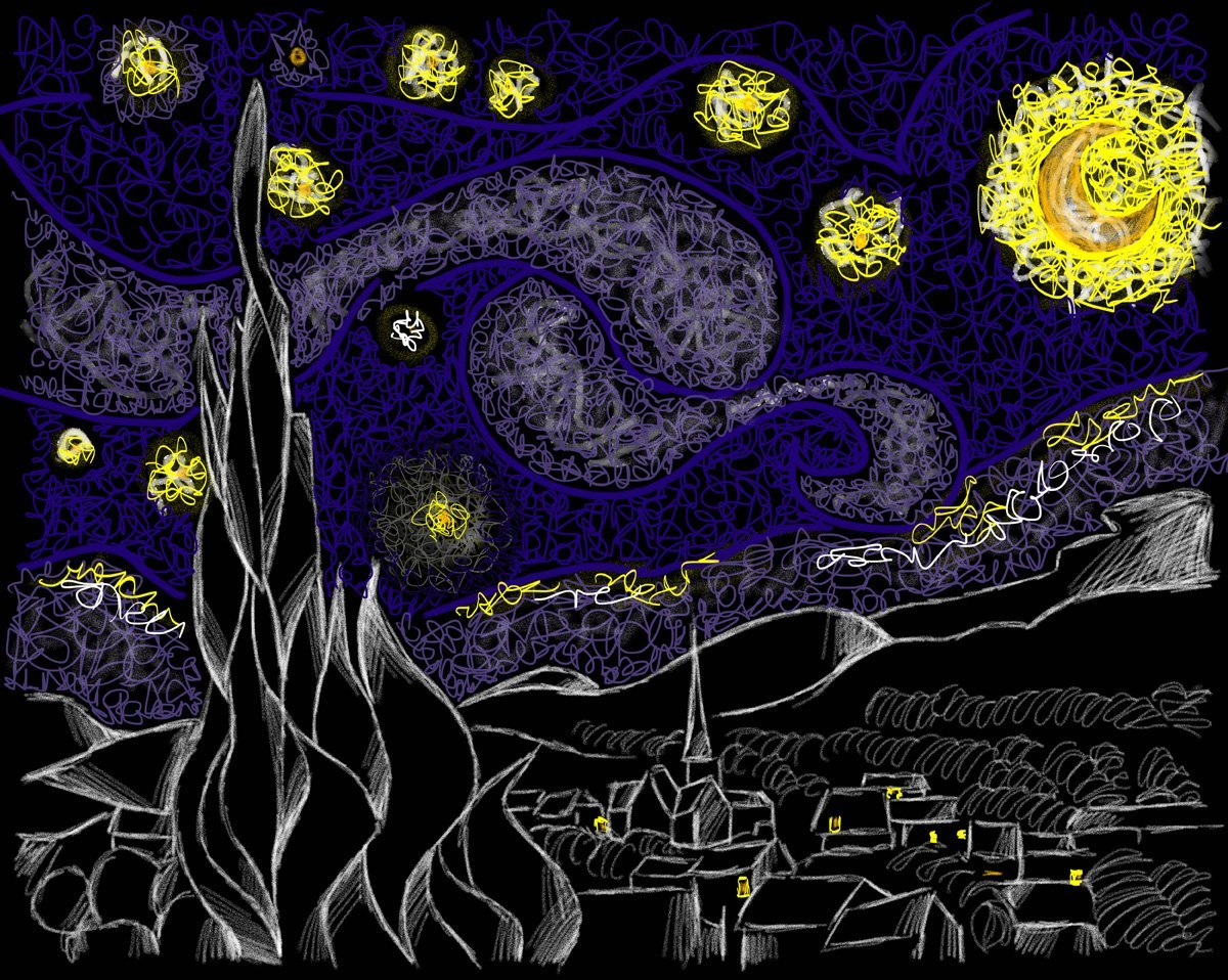 Jina Wallwork's version of Starry Night by Van Gogh