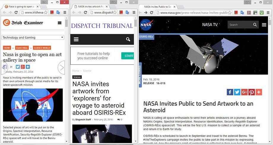 NASA project (web clippings)