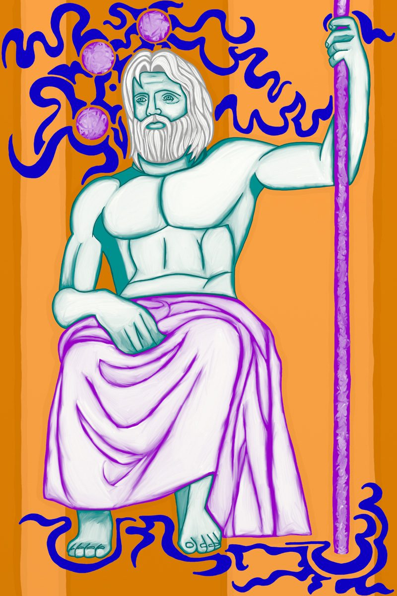 The Emperor, taken from a set of Tarot cards designed by Jina Wallwork.