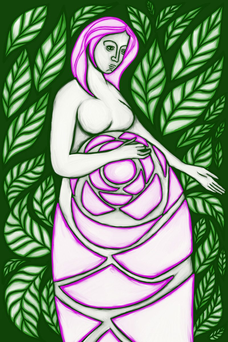 The Empress, taken from a set of Tarot cards designed by Jina Wallwork.