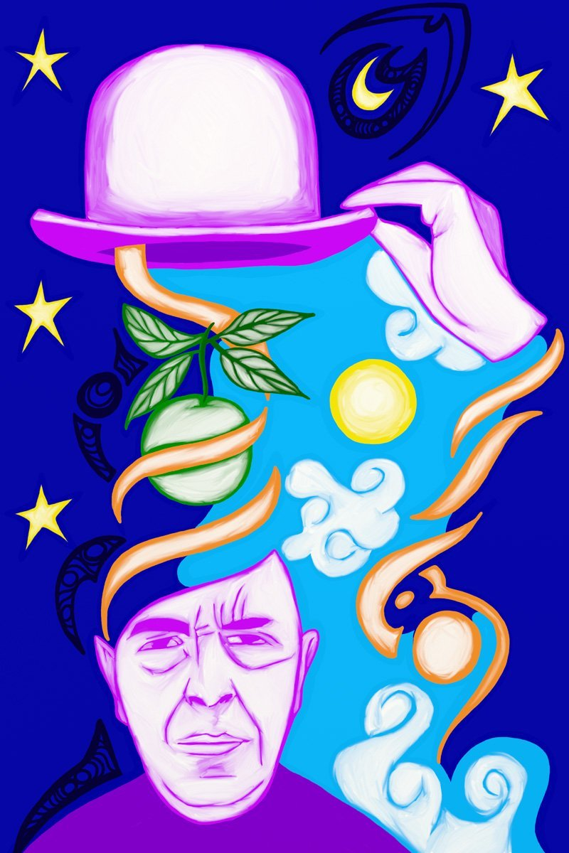 The Magician, taken from a set of Tarot cards designed by Jina Wallwork.