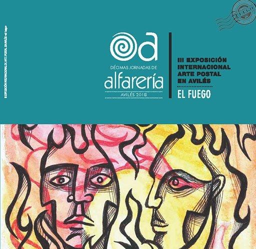 El Fuego Exhibition Publication Jina Wallwork's artwork on the cover.