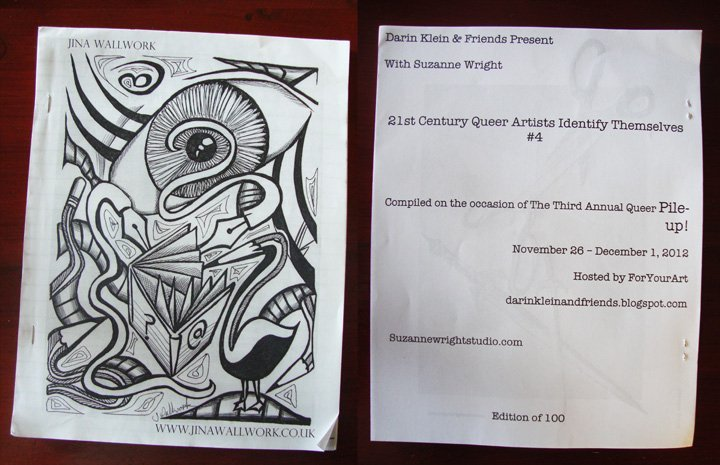 queer artists identify themselves 4. A publication that features Jina Wallwork's artwork on the cover.