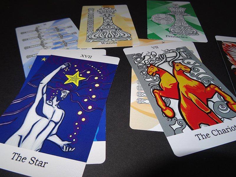 Tarot cards by Jina Wallwork