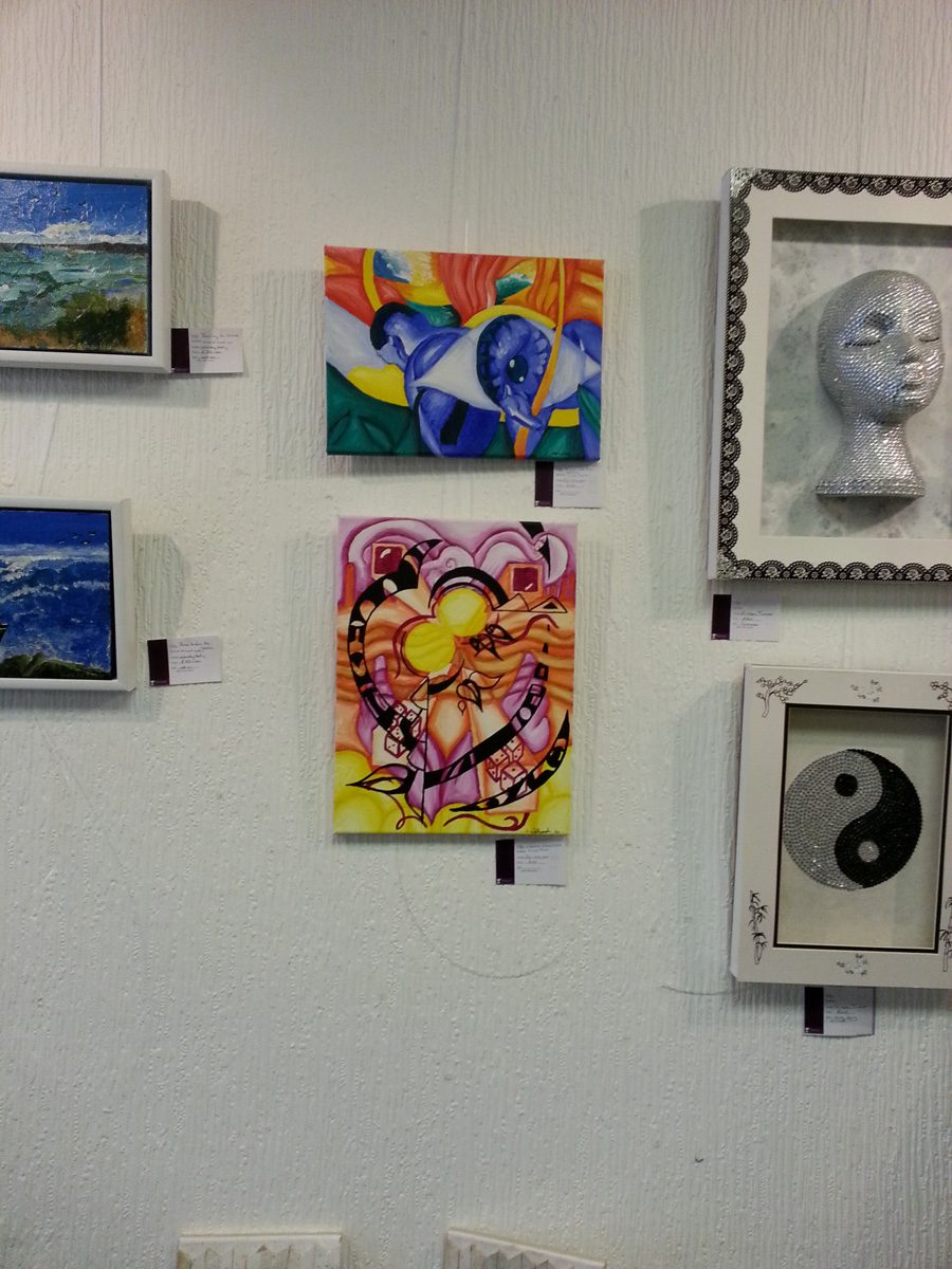 Jina Wallwork's artwork being exhibited at the Best of Northern Art
