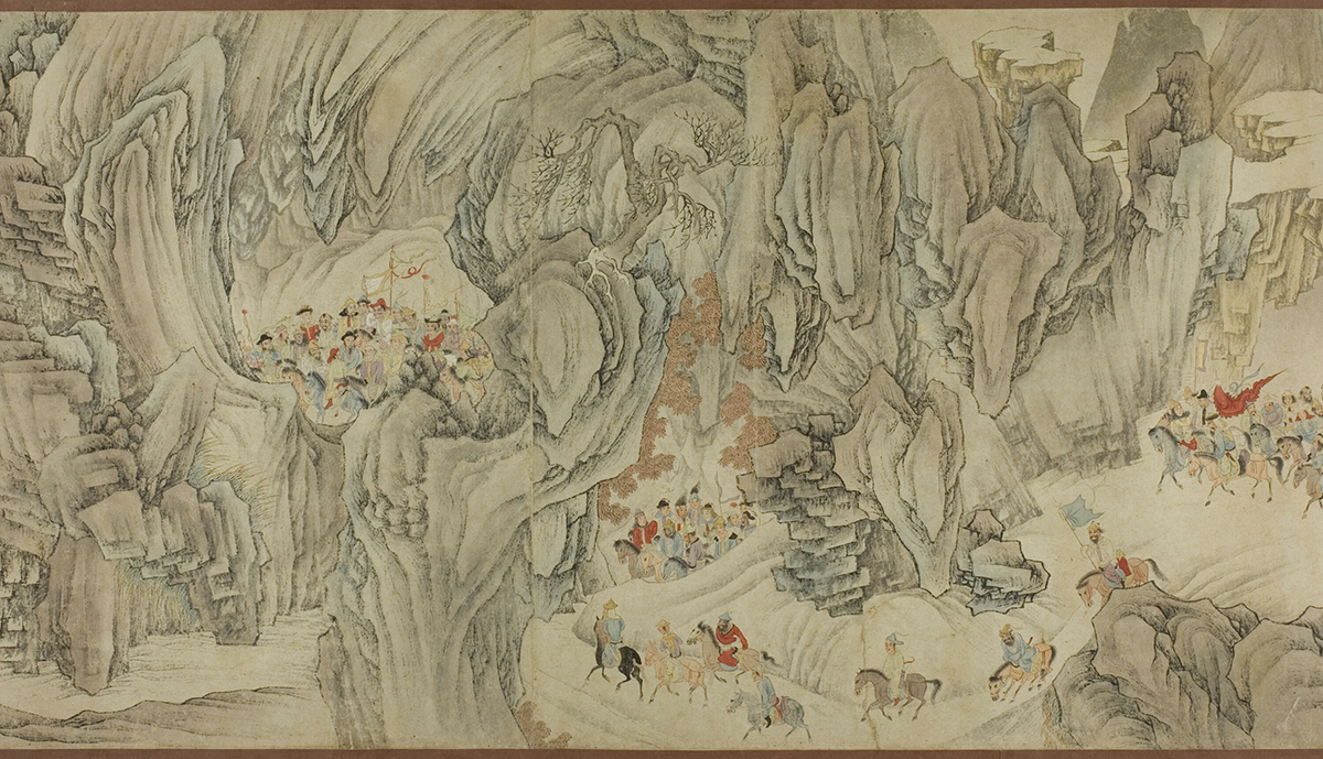 A Hunt in the Mountains of Heaven, artist unknown Late Ming /early Qing dynasty, 17th century Collection: The Art Institute of Chicago