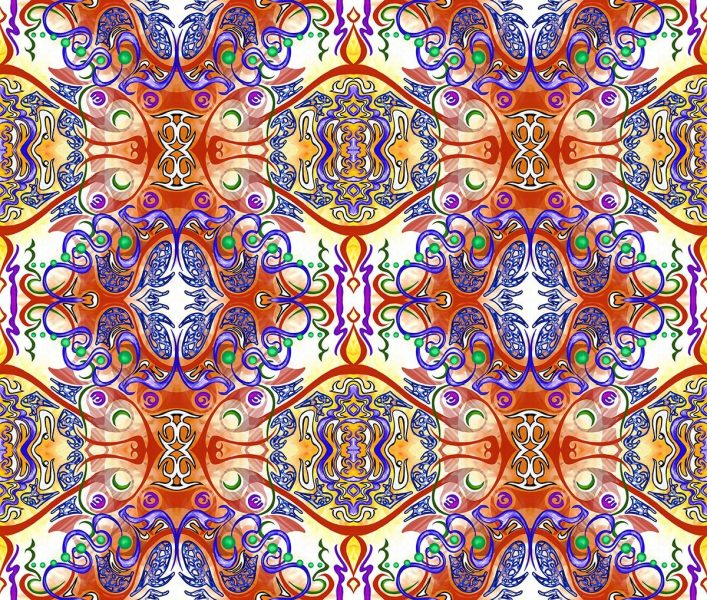 A piece of artwork by Jina Wallwork. An abstract design for a wall tapestry.
